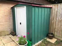 Garden shed, metal, 6 x 5ft