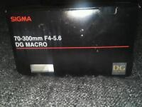Sigma lens for Canon mount