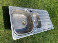 Franke 1.5 bowl stainless steel kitchen / worktop inset sink, good condition