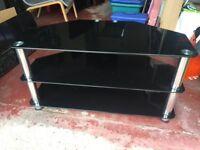 TV Stand - 3 Glass Shelf Stand