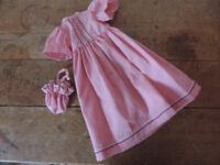 Sasha Doll Vintage 1970's Pink Dress and matching Bag