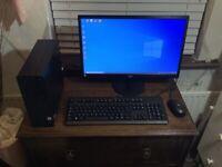 "HP 290 G1 Intel Core i5-8500 8GB memory, Win 10, 22"" monitor Complete PC system"
