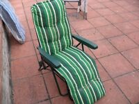 Used - Green Relaxer Multiposition Chair for Garden