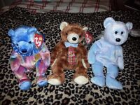 3 TY Beanie Babies September bear, Pappa 2004, Issy Cairo