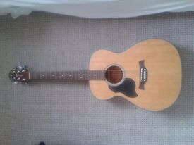 Left handed Crafter acoustic guitar w/case - collection only