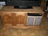 PINE TELEVISION CABINET - CLACTON ON SEA - CO15 6AJ