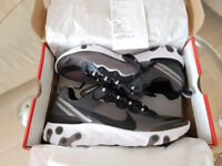 Nike React Element 87 Black Anthracite UK 9.5 Authentic Delivery Available