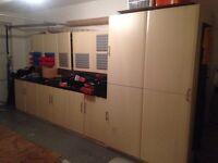 Kitchen units for garage storage
