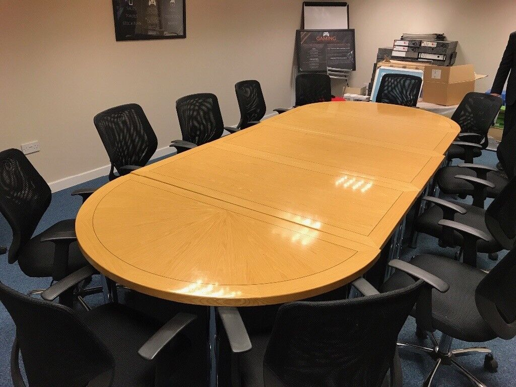 Large Boardroom Table With Chairs In Newcastle Tyne And Wear - Large boardroom table