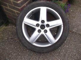 17 inch alloy wheel Rim Audi A4 / 7.5J ET45 / 235 45 17 tyre / 5 spoke b6 b7 from 2004 convertible