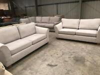 Brand new grey 4 + 4 seater Abbey sofa suite from Marks and Spencer's