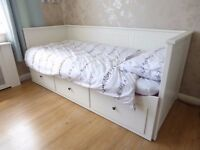 Ikea White Hemnes Day Bed