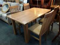 Dining Table With Four Chairs - With Delivery Option