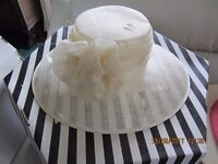 Hat for any occasion. Cream in colour