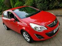 Vauxhall Corsa Exclusive, 1.2 Petrol, Automatic, 5 door hatchback, 2012 facelift in Red