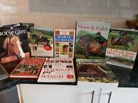 Variety of equestrian books