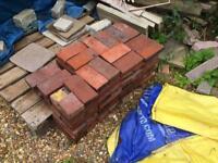 86x reclaimed hard clay pavers
