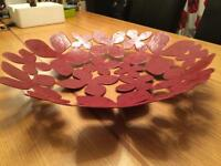 Large Metal Fruit Bowl