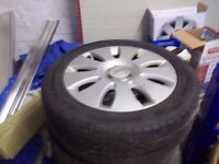 A really nice set alloys never been curbed with 4 legal nice tyres on them for a audie A3