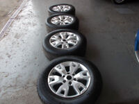 FORD RANGER 18INCH ALLOYS WITH 265/60/18 TYRES GOOD CONDITION BARGAIN ONLY £240 *LOOK*