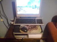 hp compack desktop pc 80gb /dual core pentium 4/1.5g ram dvd player