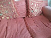 3 seater sofa, 2 seater and a poofe