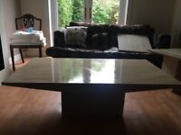 Polished Stone coffee table and 2side tables