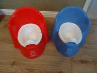 Baby Bjorn Potty (x2) Red and Blue £7 each