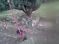 Old style lawnmower for renovation
