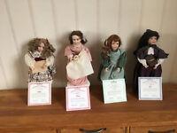 Alcott's Little Women, dolls by Wendy Lawton, produced under hallmark of the Ashton Drake.
