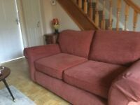 M&S 2 Seater sofa in good clean condition, with free matching armchair