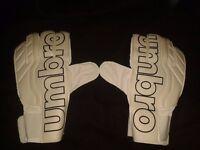 Brand new White Umbro gloves