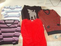 ASSORTED LADIES JUMPERS,SIZE 14-16 - 50P EACH
