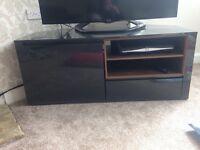Next - grey and walnut TV cabinet. £50