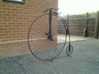 Wrought iron penny farthing