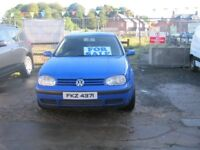 have this we 2001 1,4 16v pertol golf in mint condenion in and out full M O T no fults