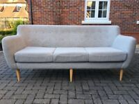 Brand new grey mottled 3 seater sofa