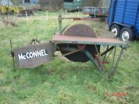 McConnell Saw Bench PTO Tractor Firewood