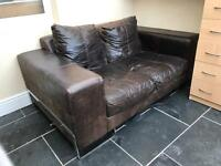 Leather 2 seat sofa - Free on collection