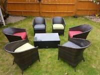 London Rattan Table & Chair Set