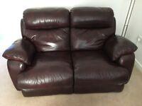 2 seater leather sofa ex CSL