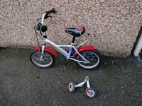 Kid bike with stabiliser