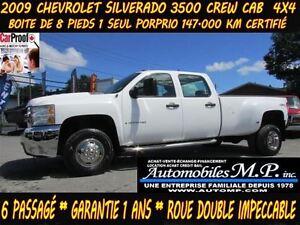 2009 Chevrolet SILVERADO 3500HD 4WD CREW CAB 1 SEUL PROPRIO ROUE