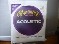 GUITAR STRINGS ACOUSTIC BY MARTIN X 3 PACK