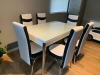 DINING TABLE WITH 6 CHAIRS DELIVERY AVAILABLE