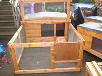 "rabbit hutch robust germ free 48"" wide from £35.00 easy clean worth viewing"