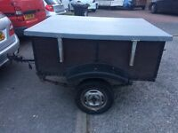 6 X 4 Trailer ideal camping or car boot fibreglass top leaf Spring strong good condition