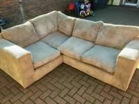 Beige corner sofa in very good condition