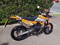 2016 Sinnis Apache 124cc, Low Mileage, £1250 ono