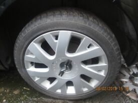 Citroen C4 VTR+ Set of 4 Wheels and Tyres from a 2008 Nice Rims 205/50 17